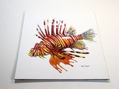 Lionfish  Original watercolor painting by SamNagel on Etsy