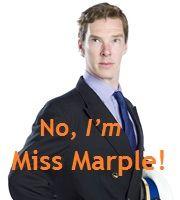 "Now Douglass is like Miss Marple!"" ""No, I'M Miss Marple! Benedict Sherlock, Benedict Cumberbatch, Roger Allam, Cabin Pressure, Jelly Babies, Miss Marple, Bbc Radio, Series 4, Actors"