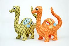 Dinosaur Pattern Soft Toy PDF Sewing Pattern par AngelLeaDesigns