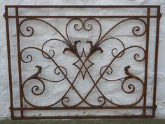 Antique Superb Victorian Ironwork Gate Balustrade Fence