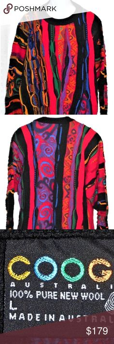 67 Best COOGI images   Sweaters, Fashion, Vintage sweaters