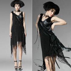 Designer Black Alternative Punk Emo Goth Fashion Dress Clothing Shops