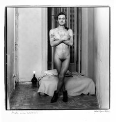 Estrellita in His Room, Photo by Alberto García-Alix, 1989 Bike Tattoos, Music Tattoos, Photography Awards, Nude Photography, Garcia Alix, Alberto Garcia, British Journal Of Photography, International Artist, National Photography