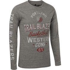 Portland Trail Blazers Comfy Tri-Blend Long Sleeve Tee