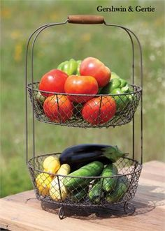 Gertie's Two Tier Garden Wire Basket