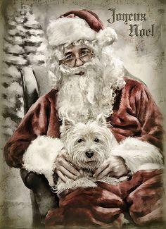 A christmas westie