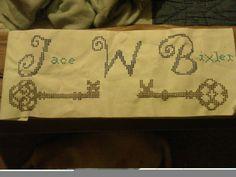Jace's cross stitch