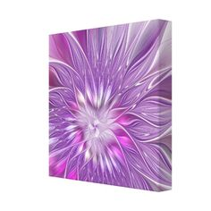 Pink Flower Passion Abstract Fractal Art Canvas Print