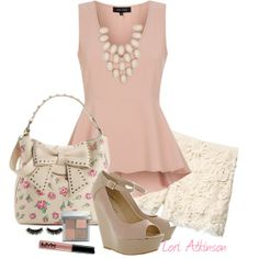 """♥♥Peplum and Lace♥♥"" by latkins77 on Polyvore"