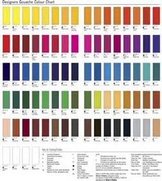 Winsor Newton Watercolor Chart
