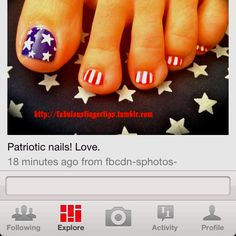 4th of July toes, love them!!!