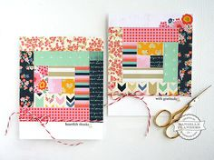 Quilt cards by Danielle Flanders for Scrapbook Expo