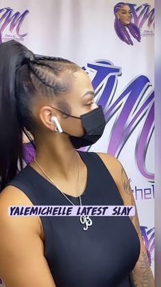 Hair Ponytail Styles, Braids Hairstyles Pictures, Cute Ponytails, Braided Ponytail Hairstyles, Braided Hairstyles For Black Women, Dope Hairstyles, Hot Hair Styles, African Braids Hairstyles, Hair Pictures
