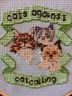 Feminist Kitties by StitchYouKnot on Etsy