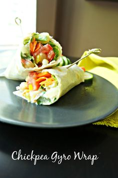 The flavors of a traditional Gyro, yogurt, dill, cucumbers, lemon, and feta are combined with tender chickpeas for a vegetarian spin on a classic wrap.