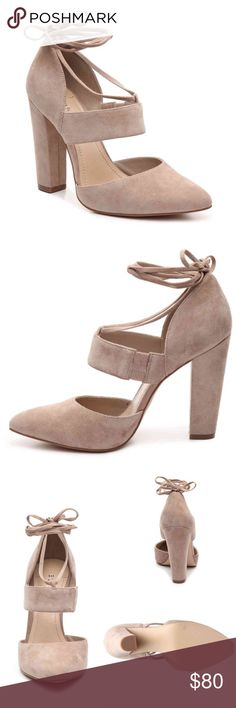 NEW IN BOX BCBG CASHMERE CARICA TAN HEELS - 8 NEW IN BOX BCBG CASHMERE CARICA TAN HEELS - 8 BCBGeneration Shoes