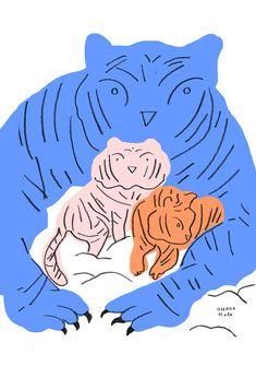 Cats by Ohara Hale Weird Art, Children's Book Illustration, Cat Art, Art Inspo, Painting & Drawing, Design Art, Deco, Disney, Art Prints