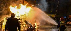 La Falla plaza del Almudín quemo su monumento