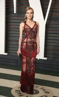 Y finalmente llegó ella: Diane Kruger arrasó en la fiesta Vanity Fair post Oscar 2016