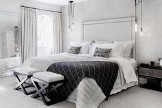 All white bedroom decor, the best white bedroom inspiration Majestic all bright white feminine bedroom decor with white luxury bed in white velvet