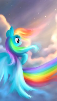 I ❤️ rainbow dash she my favorite pony