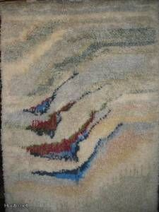 Satu Peura Huomen Rya Rug, Modern Tapestries, Textiles, Tapestry Design, Rug Hooking, Weaving, Art Deco, Cool Stuff, Rugs
