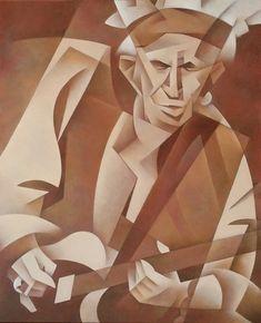 Keith Richards Oil on Canvas, 100x80 cm