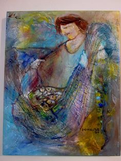 """Articoli simili a SALE Christian Art Mixed Media Painting """"I Will Make Your Fishers Of Men"""" su Etsy Weaving Art, Mixed Media Painting, Christian Art, Make It Yourself, Fishnet, Communion, Etsy, How To Make, Inspirational"""