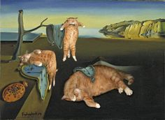 You know what the Mona Lisa and the Sistine Madonna are missing? A poetic, chubby ginger cat sprawled out.