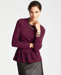 luxe plum business casual