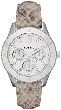 awesome Montre pour femme : #Fossil #Watch , Fossil Women's ES3124 Stella Snake Print Leather Watch...