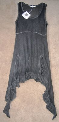 cute style for linen tank with ruffle bottom.