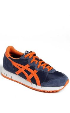 Orange + Blue = Perfect Fall Sneaker for the Gents.