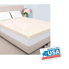 "Authentic Comfort 2"" Memory Foam Mattress Topper Made with Biofresh, Multiple Sizes"