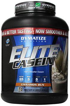 Dymatize Nutrition Elite Shake, Casein Cinnamon Bun, 4 Pound - http://healthfitsociety.com/protein/casein-protein-products/dymatize-nutrition-elite-shake-casein-cinnamon-bun-4-pound/