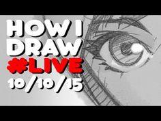 How I Draw #Live #Drawlloween Alien - YouTube