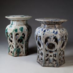 Ceramic garden seats, Chinese c.1800