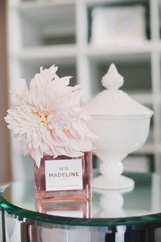 Little girls name on perfume bottle