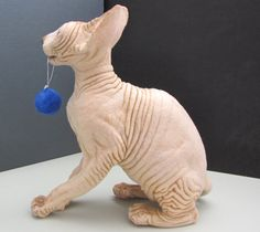 SOLD EXAMPLE ONLY. Sphynx Cat Life-size by ARTbyLiubov