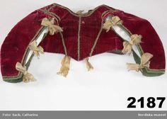 Child's bodice, dated to supposedly worn by Siri Oxenstjerna, born 1612 17th Century Clothing, 17th Century Fashion, Baroque Fashion, European Fashion, Vintage Fashion, Historical Costume, Historical Clothing, Fashion Kids, Fashion Wear