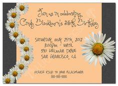 Printable Birthday Party Invitation Daisies by attitudesindesign, $7.00