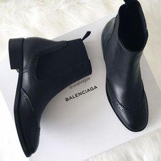 black booties #balenciaga