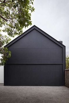 5 Garage Door Styles For Modern Homes Garage Door Styles, Garage Door Design, Modern Garage Doors, Garage House, Car Garage, Casas Containers, Shed Homes, Black House, Minimalist Home