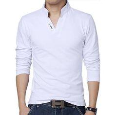 T Shirt Men Long Sleeve Mens Casual Tshirt Fitness Hip Hop New ...
