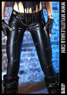 Black Metal Lace Up Leggings - My Little Halo http://mylittlehalo.com