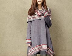 Two pieces sweater loose cotton sweater by clothingshow on Etsy, $60.80