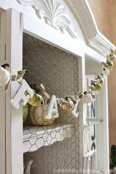 DIY Mini Pumpkin Garland