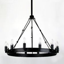 M41 Round 12-Light Candle-Style Chandelier