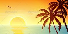 Tropical Sunset  #GraphicRiver         A Tropical Sunset, Sunrise with Palm Trees. – Fully editable vector EPS 10 , gradients and transparencies used.     Created: 17September12 GraphicsFilesIncluded: VectorEPS Layered: No MinimumAdobeCSVersion: CS Tags: beach #beautiful #branch #holiday #horizon #hot #idyllic #illustration #island #landscape #mist #misty #morning #ocean #palm #paradise #reflection #sea #seascape #seashore #seaside #silhouette #sun #sunny #sunrise #sunset #trees #tropical…