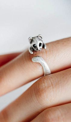 Vintage cat ring